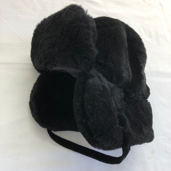 8c577ffb09c1d Faux Fur Winter Men s Ear Flaps Hat Black Sz Large.  M 5b810b178ad2f92a3901ee7f